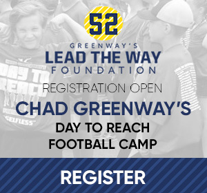 "Chad Greenway's ""Day to REACH"" Football Camp"